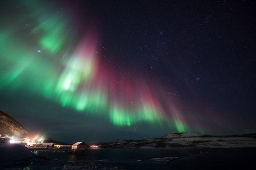 Timelapse av nordlys, Smalfjord