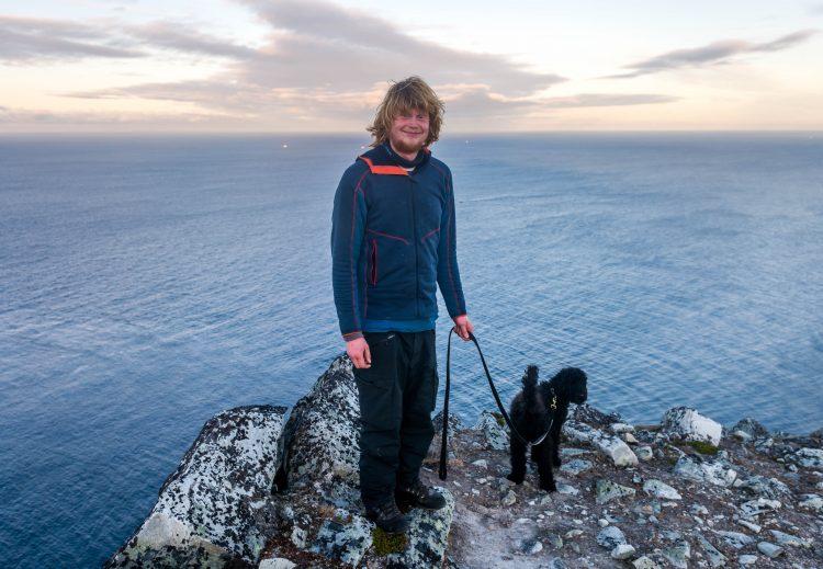 Nå har jeg gått Norge på langs – fremme på Kinnarodden den 26. oktober 2017