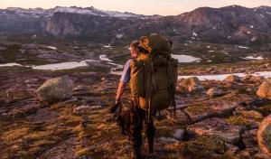 Pappa og Frøya på tur mellom Rago og Tysfjord