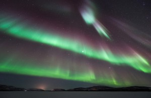 Nordlys over Tanaelva