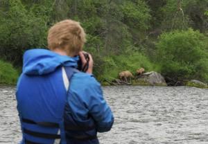 Fotograferer bjørn