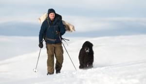 Pappa og Frøya på tur